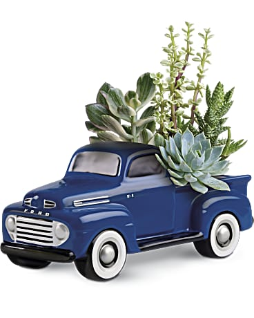 Order Dad a His Favorite Ford F1 Pickup by Teleflora keepsake vase
