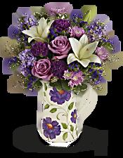 Teleflora's Garden Pitcher Bouquet Flowers