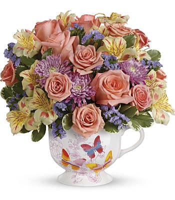 Teleflora's Butterfly Sunrise Bouquet Flowers