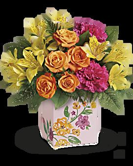 Bouquet Fleurs peintes de Teleflora