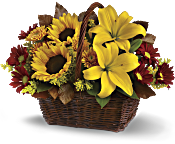 Golden Days Basket Flowers