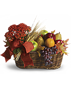 Gift baskets gourmet food and flower baskets teleflora fresh picked gift basket negle Choice Image