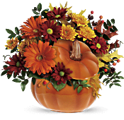 Teleflora's Country Pumpkin Flowers