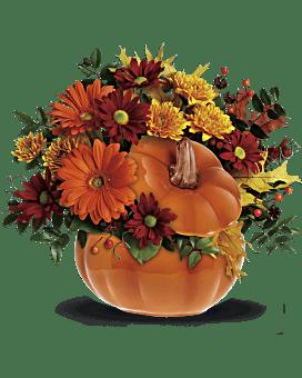 Quick View Teleflorau0027s Country Pumpkin Flower Arrangement