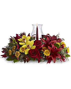Arrangement floral Centre de table floral Luminescence de gratitude