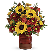 Teleflora's Sunshine Crock Bouquet Flowers