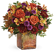 Teleflora's Golden Amber Bouquet Flowers