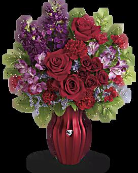 Bouquet Cœur rayonnant de Téléflora
