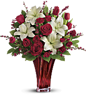 Love's Passion Bouquet by Teleflora Flowers