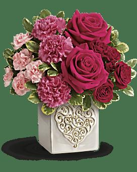 Teleflora's Swirling Heart Bouquet Bouquet