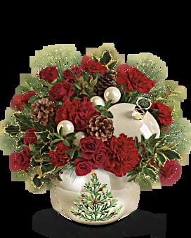 Teleflora's Classic Pearl Ornament Bouquet Bouquet