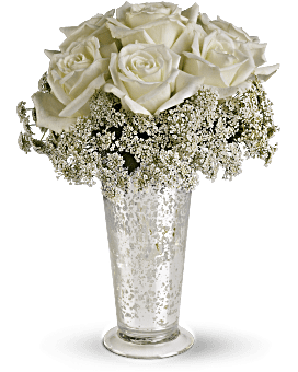 Teleflora's White Lace Centerpiece Bouquet