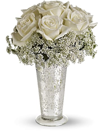 Telefloras White Lace Centerpiece Bouquet Teleflora