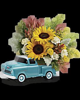 Teleflora's Chevy Pickup Bouquet Bouquet
