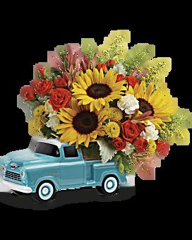 Teleflora S Chevy Pickup Bouquet Teleflora