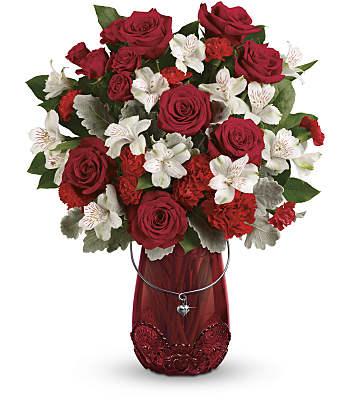 Teleflora's Red Haute Bouquet Flowers