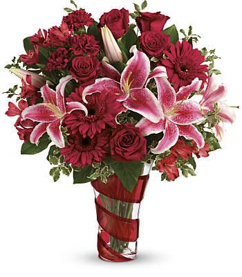Teleflora's Swirling Desire Bouquet Flowers