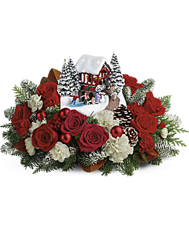 Thomas Kinkade's Snowfall Dreams Bouquet Flower Arrangement