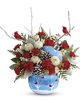 Teleflora�s Cardinals In The Snow Ornament