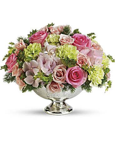 Merveilleux Teleflorau0027s Garden Rhapsody Centerpiece Flower Arrangement