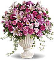 Passionate Pink Garden Arrangement Flowers
