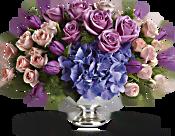 Teleflora's Purple Elegance Centerpiece Flowers