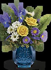 Teleflora's Sapphire Garden Bouquet Flowers