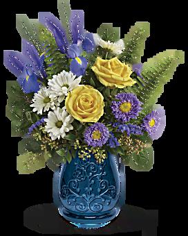 Telefloras Sapphire Garden Bouquet