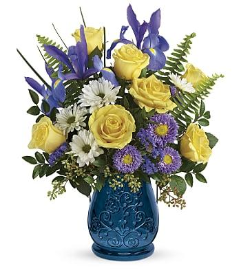 Sapphire Garden Bouquet Flowers