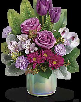 Jardin de verre bouquet d'art de de Teleflora