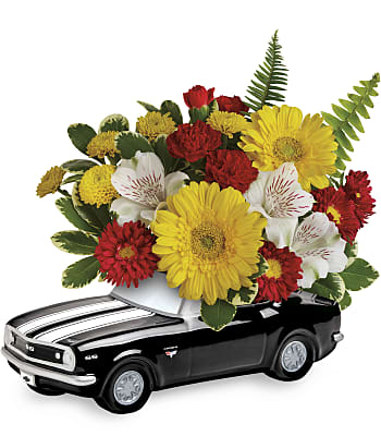 Teleflora's '67 Chevy Camaro Bouquet Flowers