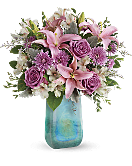 Teleflora's Art Glass Treasure Bouquet Bouquet