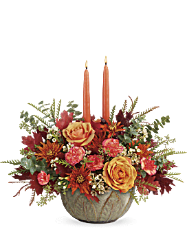 Teleflora's Artisanal Autumn Centerpiece  Bouquet
