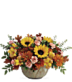 Teleflora's Autumn Sunbeams Centerpiece Flowers