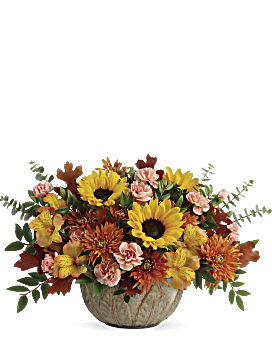 Teleflora's Autumn Sunbeams Centerpiece Bouquet