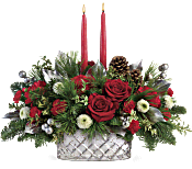 Teleflora's Merry Mercury Centrepiece Flowers