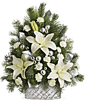 Teleflora's Sparkling Silver Tree Flowers