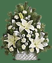 Teleflora's Sparkling Silver Tree Flowers