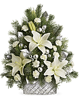 Teleflora's Sparkling Silver Tree Flower Arrangement