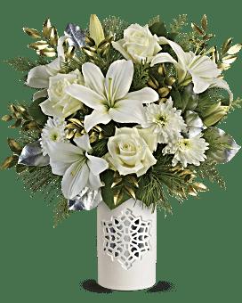 Flocon de neige blanc bouquet bouquet de de Teleflora