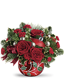 Teleflora's Deck The Holly Ornament Bouquet  Bouquet