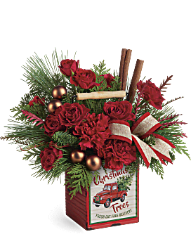 Joyeux Noël bouquet de cru de de Teleflora