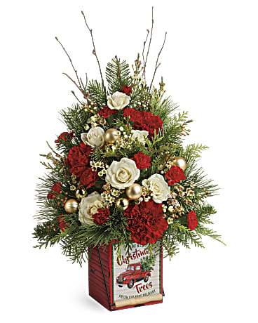 Teleflora's Vintage Greetings Tree Bouquet
