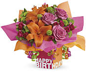 Rosy Birthday Present Flowers