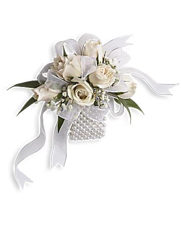 White whisper wristlet corsage teleflora white whisper wristlet corsage mightylinksfo