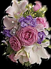 Purple Love Wristlet Flowers