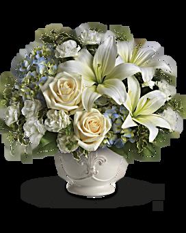 White flowers in beautiful arrangements teleflora quick view beautiful dreams by teleflora flower arrangement mightylinksfo