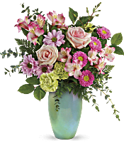 Teleflora's Enamored With Aqua Bouquet Flowers