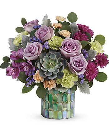 Teleflora's Marvelous Mosaic Bouquet Flowers