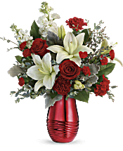 Teleflora's Radiantly Rouge Bouquet Flowers